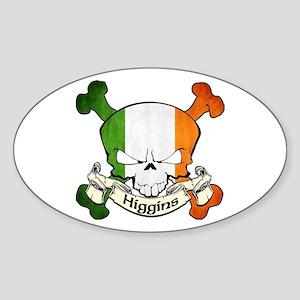 Higgins Skull Sticker (Oval)