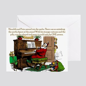 Santa? At Piano Greeting Card