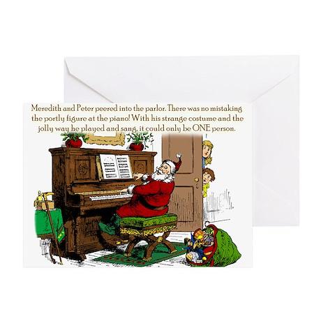 Santa? At Piano Greeting Card