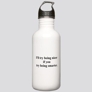 try being smarter Stainless Water Bottle 1.0L