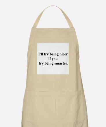 try being smarter Apron
