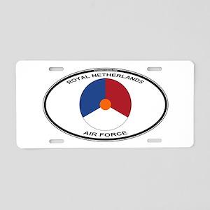 Dutch AF Roundel (labaled) Aluminum License Plate