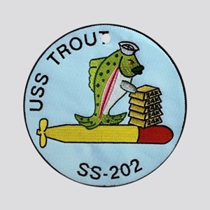 USS Trout SS 202 Ornament (Round)