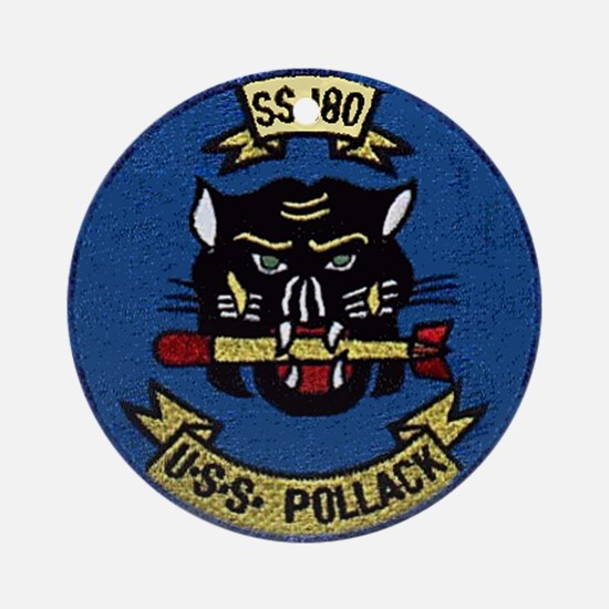 USS Pollack SS 180 Ornament (Round)