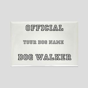 Personalized Dog Walker Rectangle Magnet