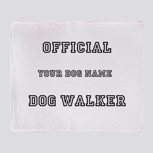 Personalized Dog Walker Throw Blanket
