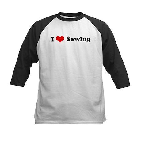 I Love Sewing Kids Baseball Jersey