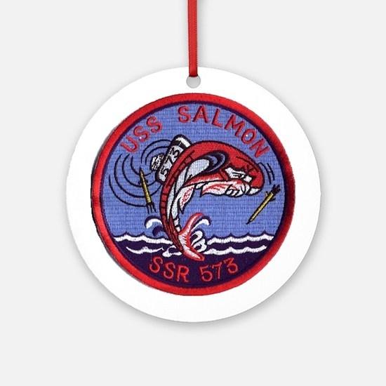 USS Salmon SSR 573 Ornament (Round)