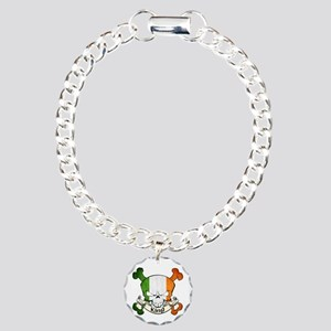 King Skull Charm Bracelet, One Charm