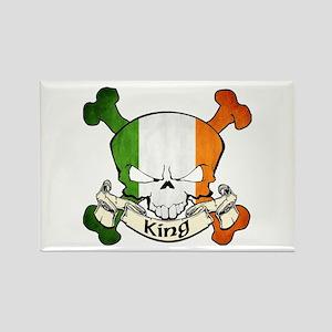 King Skull Rectangle Magnet