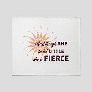 She is Fierce - Burst Throw Blanket