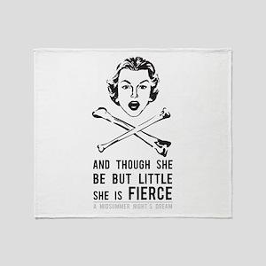 She is Fierce - Punk Throw Blanket