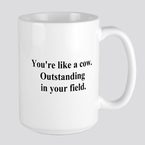 outstanding cow Large Mug