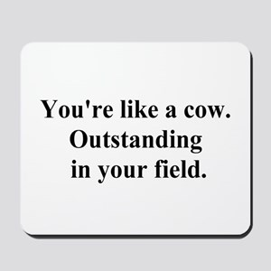 outstanding cow Mousepad
