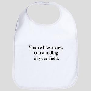 outstanding cow Bib