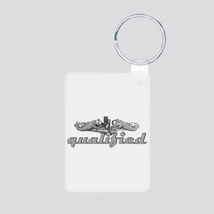 Silver Qualified Dophins Aluminum Photo Keychain