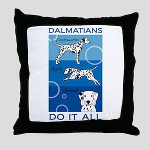 The Versatile Dalmatian Throw Pillow