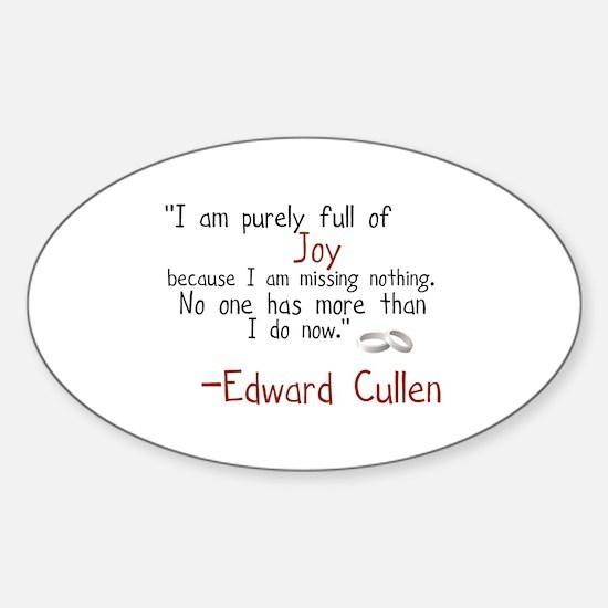 Edward's Joy Sticker (Oval)