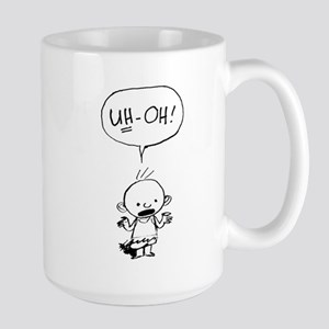 Uh-oh baby stand alone Mugs