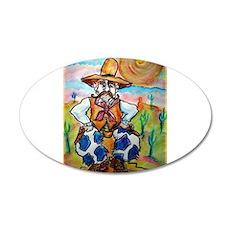 Cowboy, colorful, art, 22x14 Oval Wall Peel