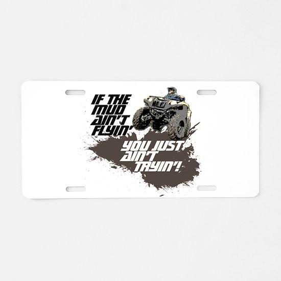 ATV RIDER Aluminum License Plate