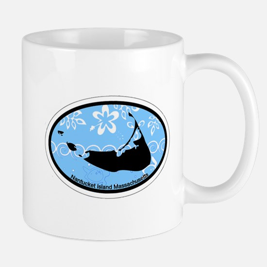 Nantucket MA - Oval Design Mug