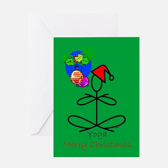 Yoga Santa Greeting Card
