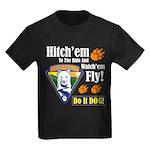 Hitch'em To The Ride!! Kids Dark T-Shirt
