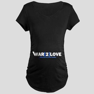 War2Love Balance Maternity Dark T-Shirt