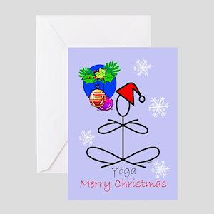 Yoga Snowflakes Greeting Card