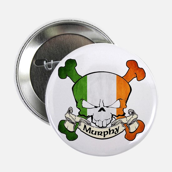 "Murphy Skull 2.25"" Button"