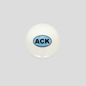 Nantucket MA - Oval Design Mini Button