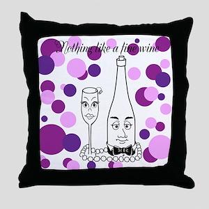 Fine Wine pink/purple Throw Pillow
