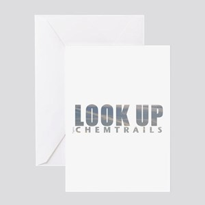 LOOK UP - Chemtrails Greeting Card