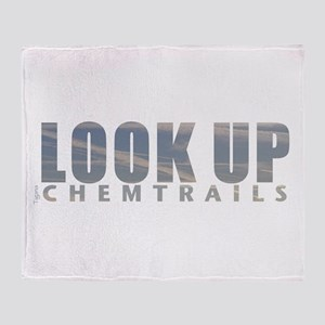 LOOK UP - Chemtrails Throw Blanket