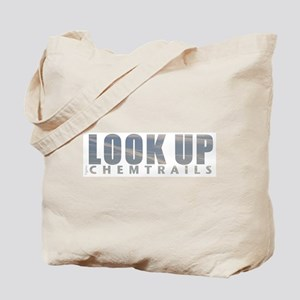 LOOK UP - Chemtrails Tote Bag