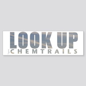 LOOK UP - Chemtrails Sticker (Bumper)