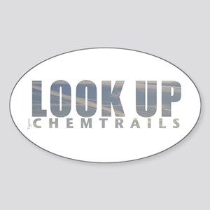 LOOK UP - Chemtrails Sticker (Oval)