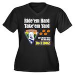 Do It Dog! Women's Plus Size V-Neck Dark T-Shirt