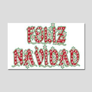 Feliz Navidad Car Magnet 20 x 12