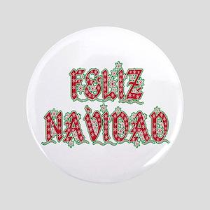 """Feliz Navidad 3.5"""" Button"""