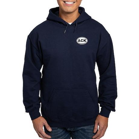 Nantucket MA - Oval Design Hoodie (dark)