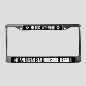 American Staffordshire Terrier License Plate Frame