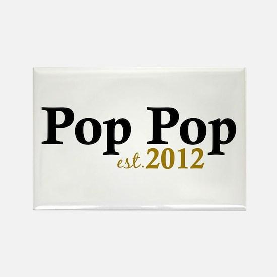 Pop Pop Est 2012 Rectangle Magnet