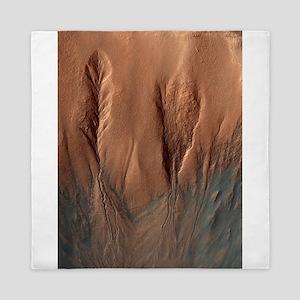 Crater Dunes and Gullies on Mars Queen Duvet