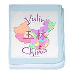 Yulin China Map baby blanket