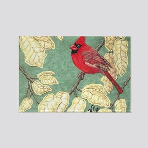 """MALE CARDINAL"" Rectangle Magnet"