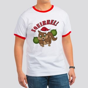 Holiday Squirrel Ringer T