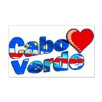 Cabo Verde Heart 20x12 Wall Decal