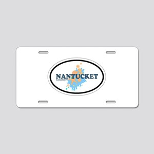 Nantucket MA - Oval Design Aluminum License Plate